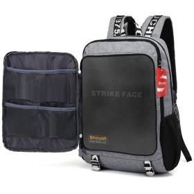 Shindn 防弾安全バックパック/USBインターフェイス付きの大容量コンピュータバッグ/突き刺し防止学生安全バッグ (2Kg)