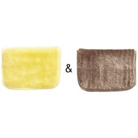 ボアクロス2枚組(水だけで油汚れがスッキリ) - セシール ■カラー:イエロー&ブラウン) C(ピンク&グリーン) A(ホワイト&ブルー