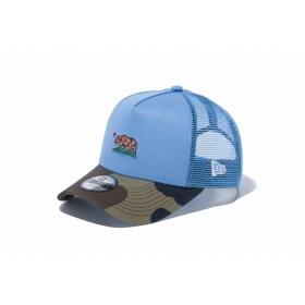【ニューエラ公式】キッズ 9FORTY A-Frame トラッカー カリフォルニアベア スカイブルー 男の子 女の子 52 - 55.8cm キャップ 帽子 12108332 NEW ERA メッシュキャップ