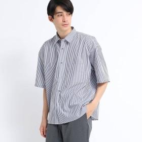 tk.TAKEO KIKUCHI(ティーケー タケオキクチ:メンズ)/ストライプオーバーシャツ