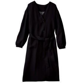 60%OFF【レディース大きいサイズ】 コンシャススリーブコート(手洗いOK) - セシール ■カラー:ブラック ■サイズ:5L,6L,LL,3L,L,4L