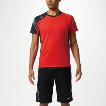 MIZUNO SHOP [ミズノ公式オンラインショップ] Tシャツ[ユニセックス] 62 フレイムスカーレット×ブラック 32MA9110
