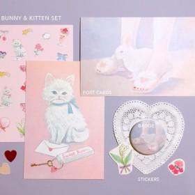 bunny & kitten set