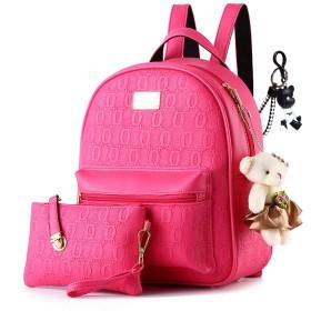 DOODOO レディース リュック ミニ バックパック PUレザー ポシェット Mini Rucksack Bag for Women 桜色 [並行輸入品]