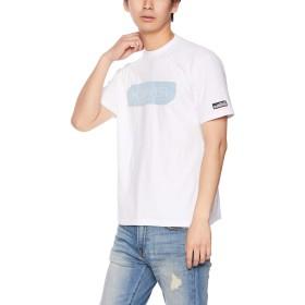 [クリフメイヤー] ブランドロゴTEE 「 デニムエンボス 」 Tシャツ 半袖 トップス コットン クルーネック ボックスロゴ LARGE オフホワイト