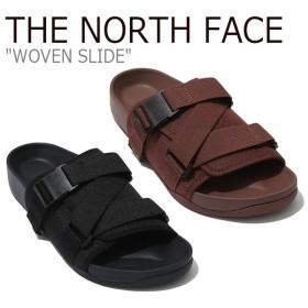 ノースフェイス サンダル THE NORTH FACE メンズ レディース WOVEN SLIDE ウーブン スライド GIARNET BLACK ガーネット ブラック NS98K16J/L シューズ