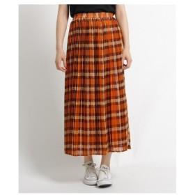 Dessin(Ladies)(デッサン(レディース))【Lサイズ・Sサイズあり】シフォンチェックプリーツスカート