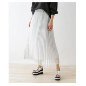 OZOC(オゾック)シャイニープリーツスカート