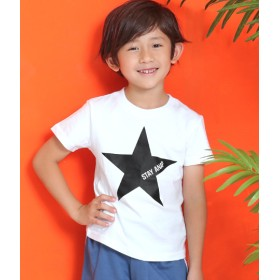 ANAP KIDS&HOME(アナップ キッズ&ホーム)/星プリントロゴTee
