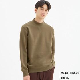 (GU)スウェットモックネックシャツ(長袖) BEIGE M