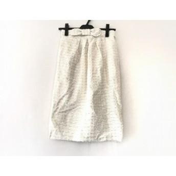 グレースコンチネンタル GRACE CONTINENTAL スカート サイズ36 S レディース 美品 白 ツイード/ラメ【中古】20190803