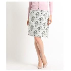 SunaUna(スーナウーナ)【洗える】フラワージャガードスカート