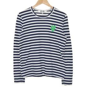 PLAY COMME des GARCONS ボーダーTシャツ ネイビー サイズ:M (堀江店) 190813