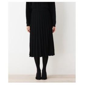 OPAQUE.CLIP(オペーク ドット クリップ)【洗える】ニットプリーツスカート