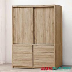 品味居 伊琳 時尚5.1尺推門六抽衣櫃/收納櫃(六抽屜+吊衣桿)