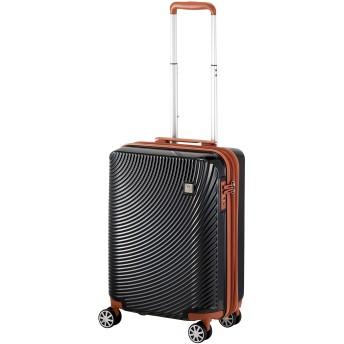 [プラスワン] スーツケース キャリーケース JAPAN AIRLINES 「JAL」拡張式タイプ 容量37L(42L) 縦サイズ47cm 2.7kg 型番 601-47 (ブラックxブラウン)