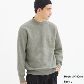 (GU)スウェットモックネックシャツ(長袖) GRAY L