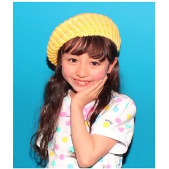 【50%OFF】 アナップキッズ MIXニットベレー帽 レディース イエロー F 【ANAP KIDS】 【セール開催中】