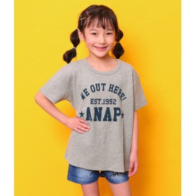 ANAP KIDS&HOME(アナップ キッズ&ホーム)/ワッフルBIGTシャツ