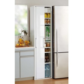 引き戸ですっきり隠せるキッチンストッカー 幅46cmホワイト