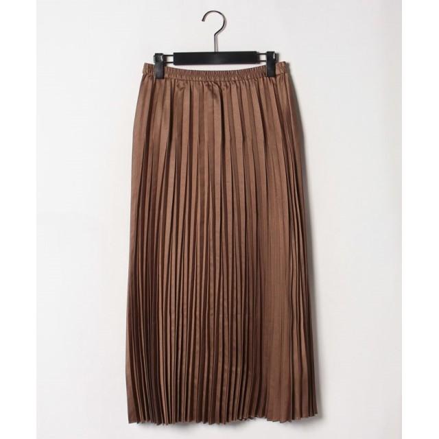 【70%OFF】 ロートレ・アモン エコレザーを使用したプリーツスカート レディース キャメル 38(2) 【LAUTREAMONT】 【セール開催中】
