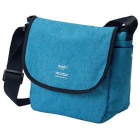 杢調素材メッセンジャーバッグ(アネロ)(AT-N0661) - セシール ■カラー:ブルー系