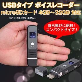 USBタイプ ボイスレコーダー 4GB〜32GB対応 ICレコーダー MP3/WAV 超小型デバイス ◇RIM-SK-006