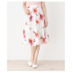 ITS' DEMO(イッツデモ)水彩ビッグフラワー柄スカート