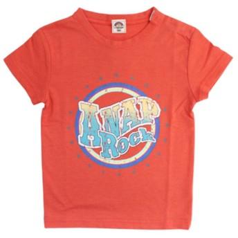 【50%OFF】 アナップキッズ USED風プリントROCKTシャツ レディース レッド 100 【ANAP KIDS】 【セール開催中】