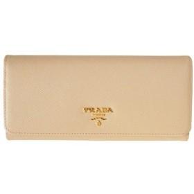プラダ財布 PRADA 二つ折り長財布 レディース SAFFIANO METAL 1M1132 ピンクベージュ
