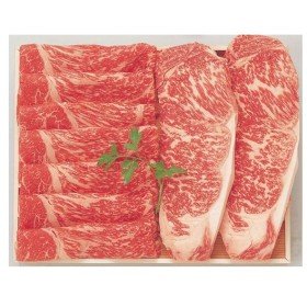 あべ牛(白老和牛)白老牛ステーキ・すき焼A ロースステーキ2枚(約150g×2枚)・肩スライス約400g 冷凍商品 北海道 お土産