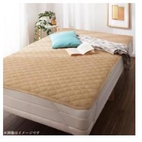 寝具 敷きパッド ショート丈専用 ザブザブ洗える コットンタオルの敷きパッド 1枚 セミシングル ショート丈 敷パッド 送料無料