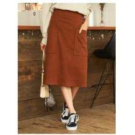 titivate(ティティベイト)ビッグポケットAラインスカート