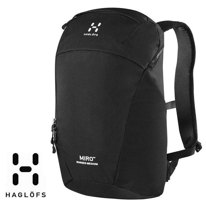 【HAGLOFS 瑞典】Miro Rugged 戶外多功能背包 通勤背包 筆電背包 黑色 (337009-2C5) 【容量20L】