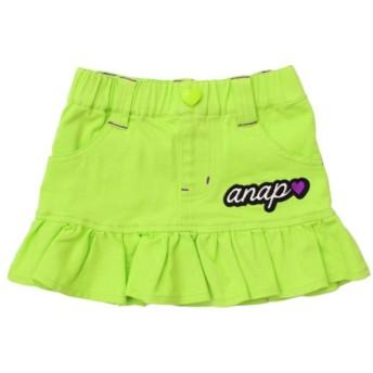 【50%OFF】 アナップキッズ カラーツイルフリルミニスカート レディース イエロー 90 【ANAP KIDS】 【セール開催中】