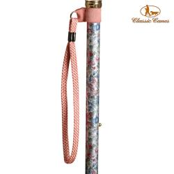 英國Classic Canes 摺疊手杖配件-手腕環扣繩 (粉紅色)