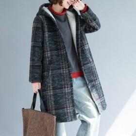 コート アウター ムートンコート レディース 裏起毛 裏ボアコート フード付き 大きいサイズ ロングコート 暖かい