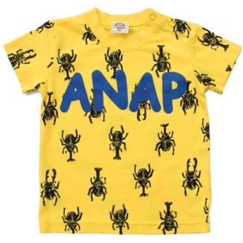 【50%OFF】 アナップキッズ カブトムシ柄Tシャツ レディース イエロー 90 【ANAP KIDS】 【セール開催中】