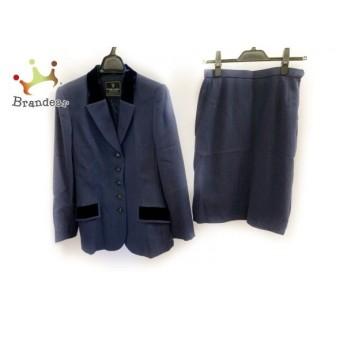 キミジマ kimijima スカートスーツ サイズ9 M レディース 美品 ブルー BOUTIQUE 新着 20190817