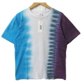 未使用 RADIALL ラディアル 半袖Tシャツ 18SS ARABICAN-CREW NECK T-SHIRT  タイダイ パープル 紫 M タグ付き メンズ  中古 80002654