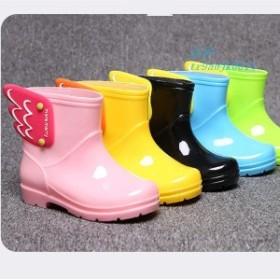 子供服 長靴 キッズ 男の子 女の子 雨遊び かわいい ピンク レインブーツ 子供 おしゃれ 防寒 羽 ジュニア 翼 イエロー ブルー 14