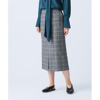 【オンワード】 JOSEPH WOMEN(ジョゼフ ウィメン) QUIET / PRINTURE CHECK スカート ブラック 40 レディース 【送料無料】