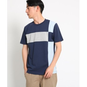 Dessin(Men)(デッサン(メンズ)) 【洗える】ブロッキング天竺 Tシャツ