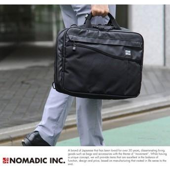 NOMADIC ノーマディック メンズ ビジネスバッグ 撥水 3way ブラック WV-03 3wayバッグ リュック ナイロン A4