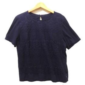 【8月5日値下】45rpm 2019SS 刺繍半袖シャツ ネイビー サイズ:3 (茶屋町店)