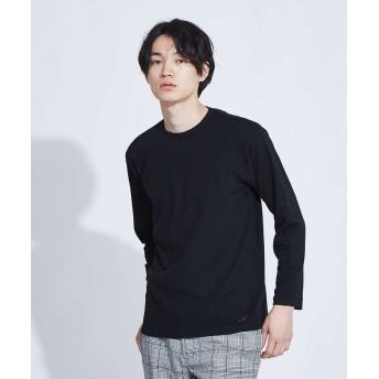 アバハウス ストレッチタックフライスロングスリーブTシャツ メンズ ブラック 48 【ABAHOUSE】