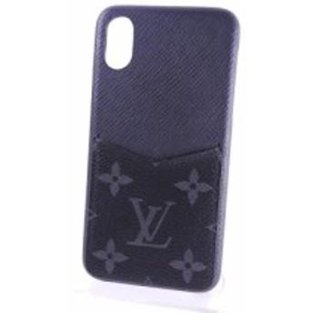 ルイヴィトン モノグラム エクリプス iPhone バンパー X & XS アイフォン スマホ ケース 男女兼用 ブラック M67806 新同品【中古】
