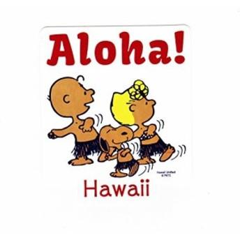 モニ ハワイ 日焼けスヌーピー ALOHAステッカー moni hawaii moana honolulu rainbow アロハ モヤさま