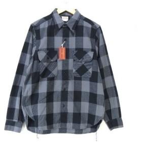 8HOURUNION ジョーマッコイ チェック ネルシャツ 未使用 MS13141 リアルマッコイズ JOE McCOY 黒 グレー 942【中古】20006076
