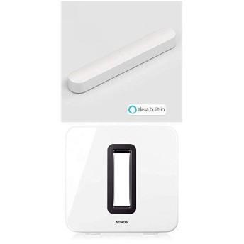 Sonos 3.1 ホームシアターシステム Beam + SUB コンパクト スマート テレビ サウンドバー Alexa搭載
